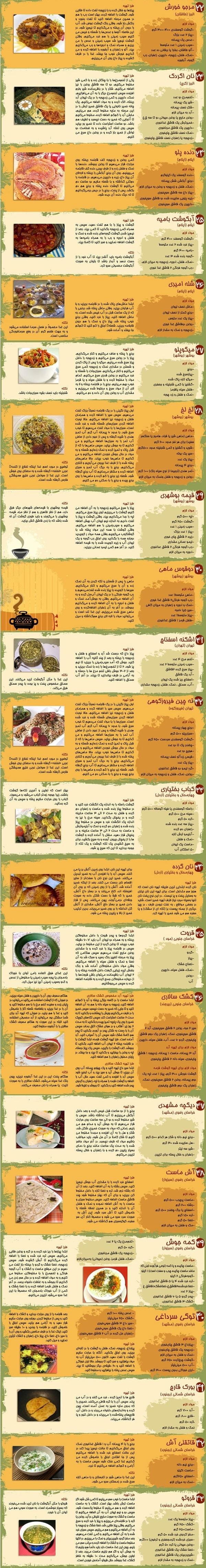 آموزش 107 غذای محلی و خوش طعم ایرانی+دستور پخت