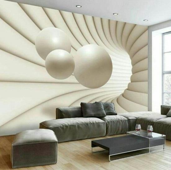 طرح های زیبا از کاغذ دیواری 3 بعدی برای خانه