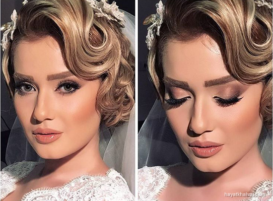مدل آرایش عروس جدید 2017