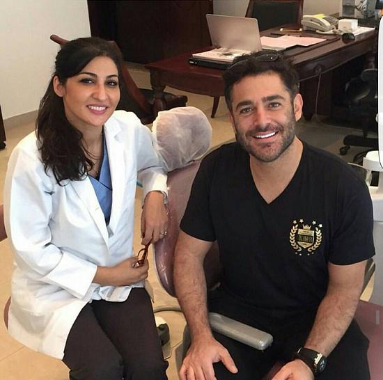 تصاویر محمدرضا گلزار و دندان پزشک بی حجاب