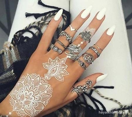 مدل های زیبا تاتو سفید برای عروس