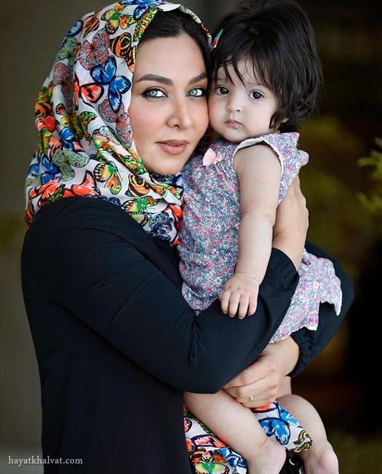 عکس جدید فقیهه سلطانی و دخترش