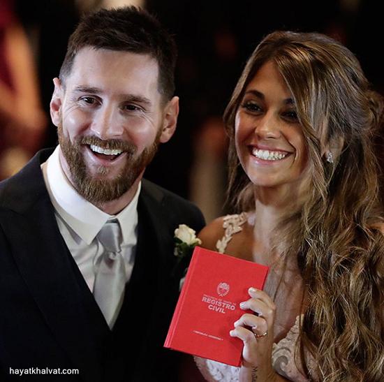 سورپرایز ویژه مسی برای همسرش در شبعروسی