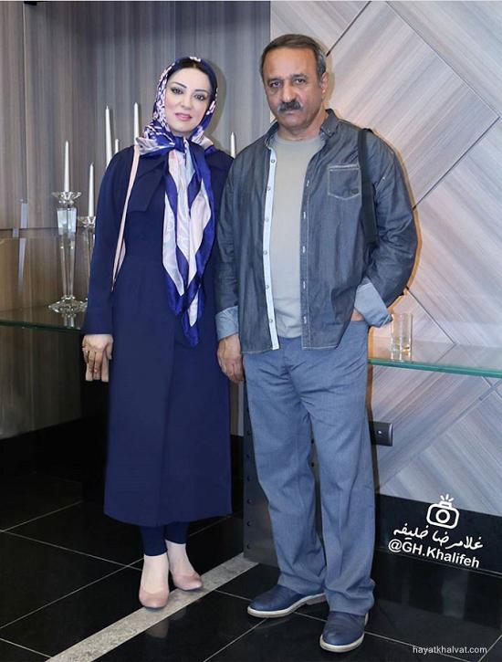 علی اوسیوند و همسرش حمیرا ریاضی