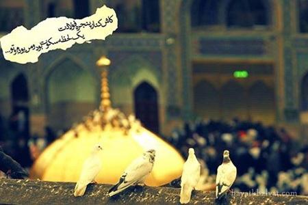 عکس نوشته درباره امام رضا