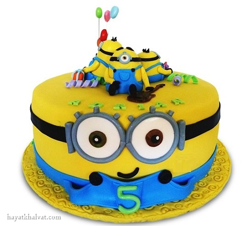 کیک تولد مینیون کوچک