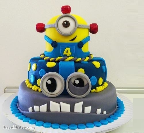 کیک تولد مینیونی زیبا