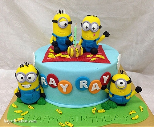 کیک تولد مینیونی