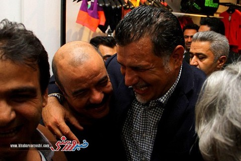 سعید آقاخانی در افتتاحیه فروشگاه جدید علی دایی