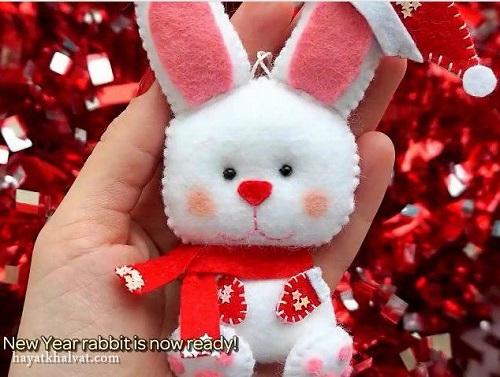 عروسک نمدی , خرگوش نمدی