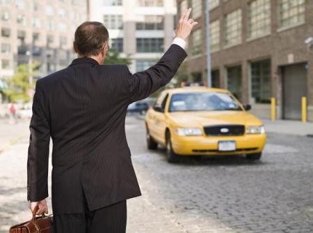 تاکسی گرفتن به انگلیسی