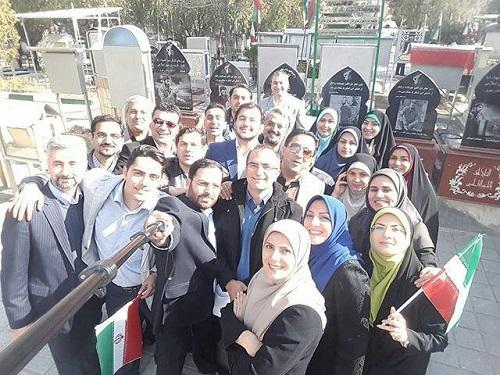 سلفی مجریان و خبرنگاران شبکه خبر به مناسبت روز خبرنگار