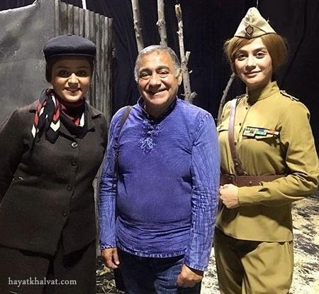 مارال فرجاد در لباس نظامی