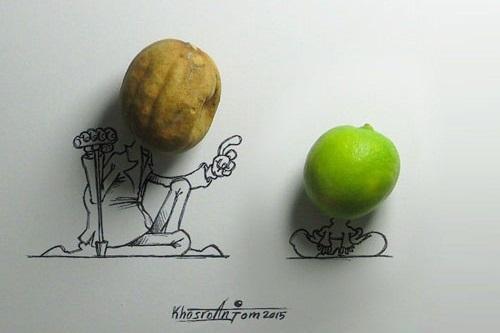 کاریکاتورهای مجید خسروانجم