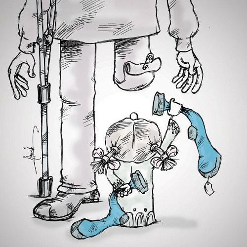 عکس کاریکاتور روز پدر مجید خسروانجم