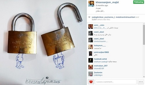 اینستاگرام مجید خسروانجم کاریکاتوریست
