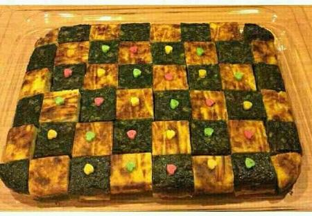کوکو سبزی و سیب زمینی شطرنجی
