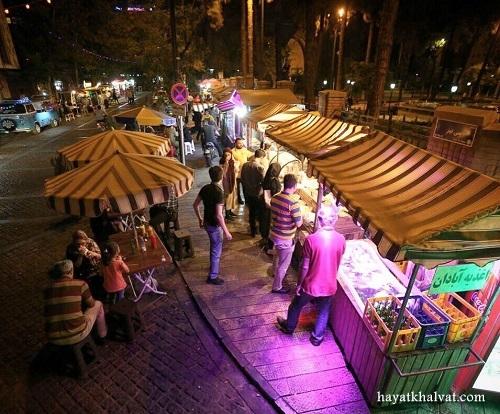 خیابان سی تیر و غذای خیابونی، استریت فود تهران