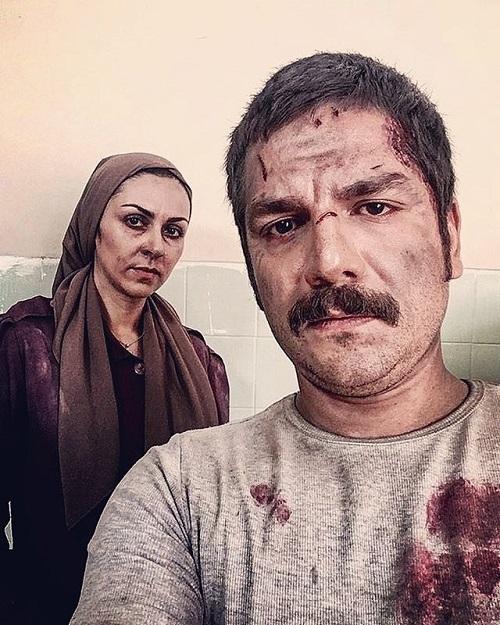عکسی از سریال آشوب با بازی شیوا ابراهیمی و عباس غزالی