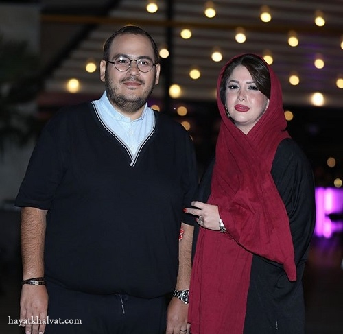 رضا داوود نژاد و همسرش در اکران خصوصی فصل نرگس