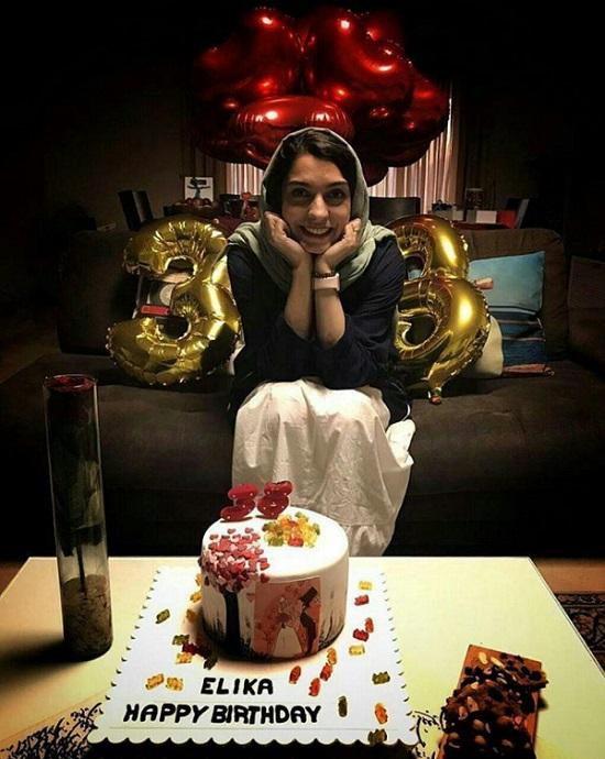 جشن تولد عاشقانه الیکا عبدالرزاقی در 38سالگی+عکس