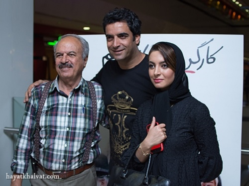 عکس غلامرضا نیکخواه و دخترش در کنار منوچهر هادی