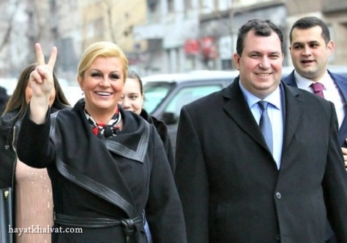عکس همسرکالیندا کیتاروویچ رئیس جمهور کرواسی