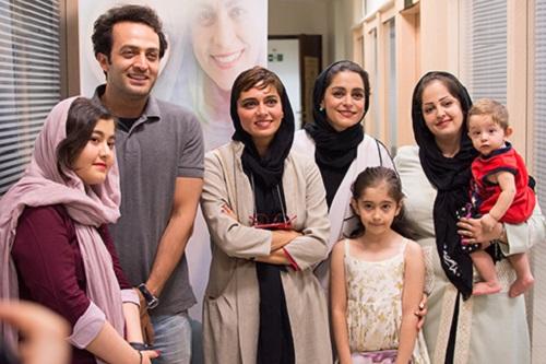عکس های بازیگران فیلم سارا و آیدا در کنار هواداران