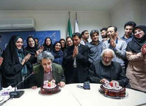 جشن تولد جمشید مشایخی و پسرش نادر مشایخی