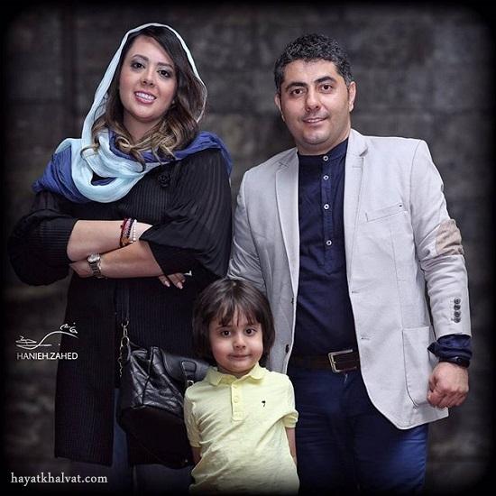 میثم معراجی و همسر و فرزندش