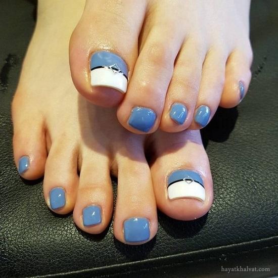 مدل های زیبا طراحی ناخن پا , طراحی ناخن پا 2017