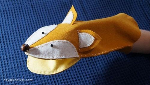 عروسک دستکشی نمدی روباه