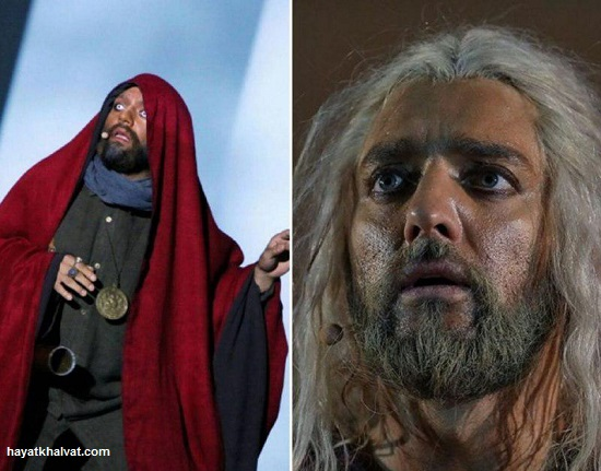 بهرام رادان در نقش زال , صابر ابر در نقش ضحاک