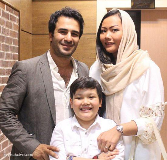 عکس جدید یوسف تیموری و همسر و پسرش
