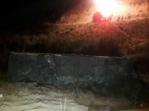 فیلم سقوط وحشتناک اتوبوس در دره جاجرود
