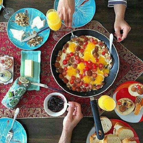 عکس صبح بخیر و صبحانه