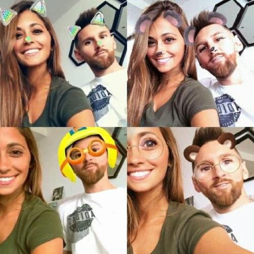 مسی و همسرش , عکس جدید مسی و همسرش