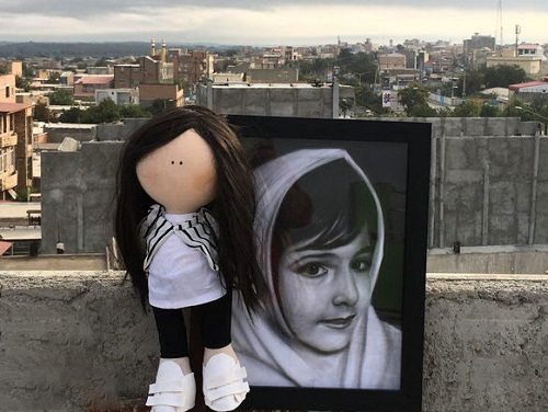 عروسکی جالب که برای خانواده آتنا اصلانی فرستاده شد , آتنا اصلانی