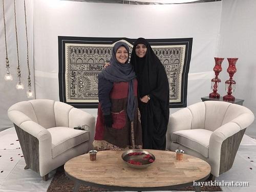 تصاویر بهاره رهنما و مژده لواسانی در ویژه برنامه ماه محرم
