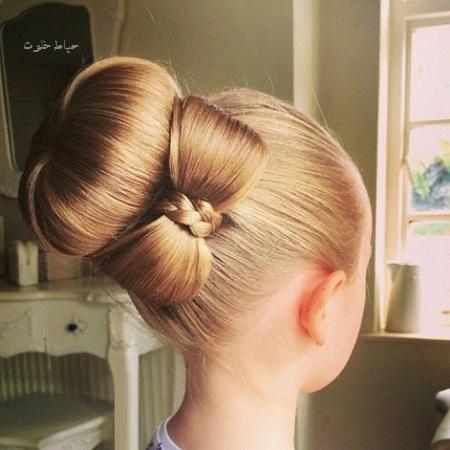 شینیون مو دخترانه جدید , مدل مو دخترانه ساده