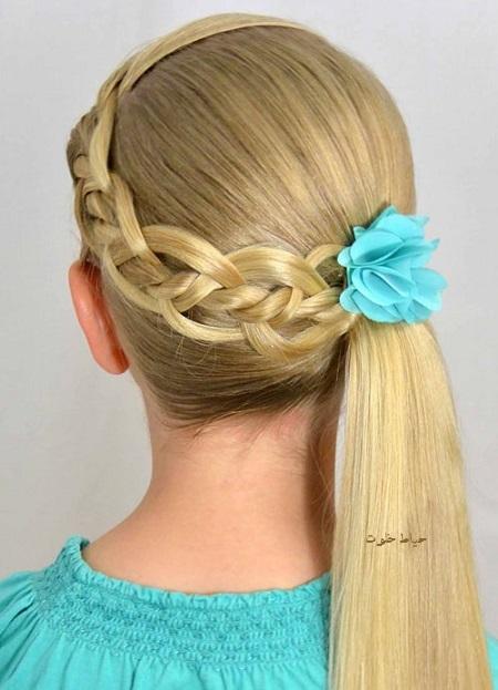 بافت مو دخترانه, شینیون مو ساده برای عروسی