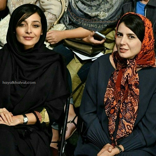 ليلا حاتمي و ساره بيات در جشن خانه سينما 96