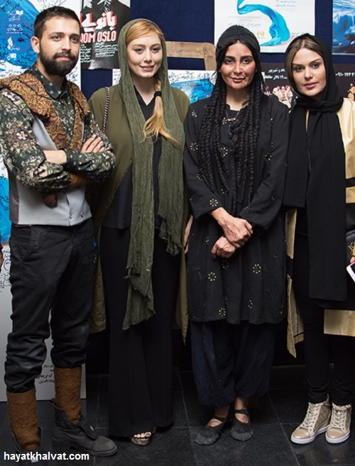 حضور سحر قریشی, رز رضوی و محسن افشانی برای تماشای نمایش چلچلا