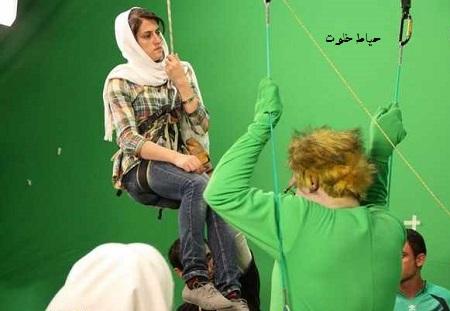 عکس مهسا احمدی بدلکار ایرانی زن