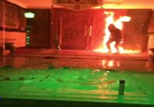 فیلم آتش زدن مسجد حضرت جوادالائمه