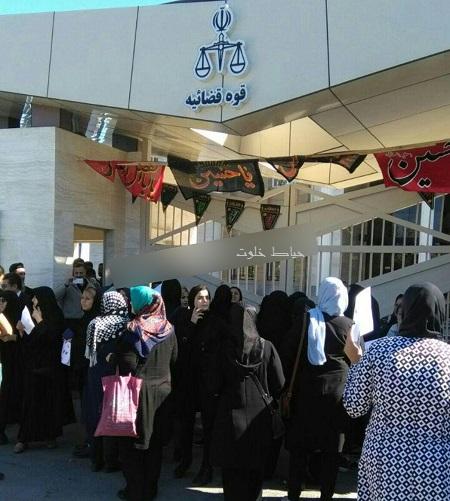 اعتراض مردم به صحبت های دادستان رشت