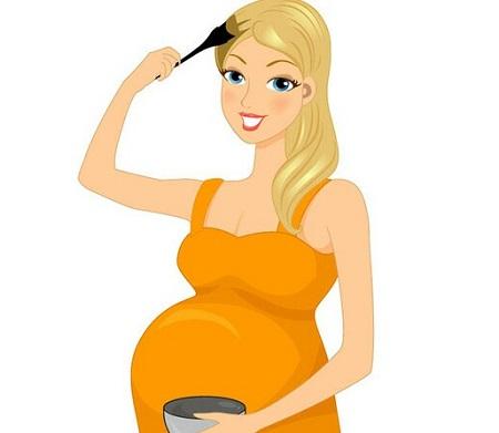 رنگ کردن مو در سه ماه اول بارداری