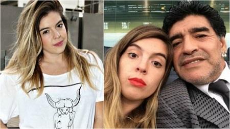 مارادونا و دخترش ,  دالما مارادونا