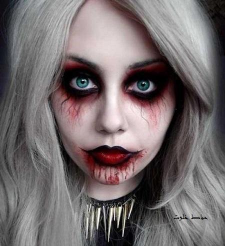 گریم وحشتناک صورت برای جشن هالووین