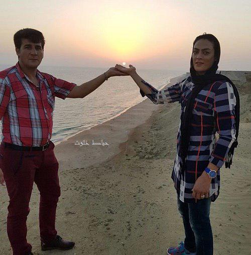 عکس خلاقانه شهربانو منصوریان و همسرش